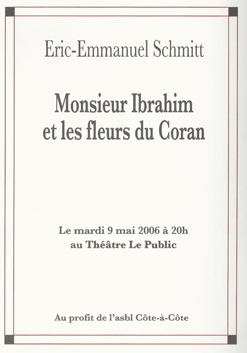 Monsieur Ibrahim et les fleurs du Coran - Mai 2006